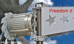 Missouri Général Freedom II 48 Volt 2000 Watt Max 9 Lame Wind Turbine Generator