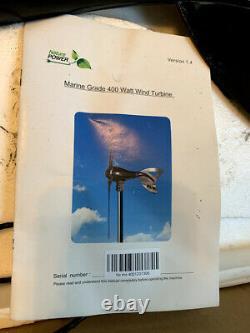 Nature Power Black 400-watt Marine Grade Turbine Éolienne Générateur D'énergie D'énergie 12v