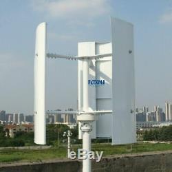 Nouveau Vertical Éolienne Générateur 600w 12v 24v 48v 3 Phase Avec 3 Lames Desig