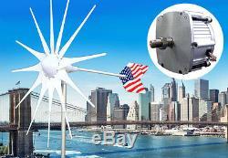 Patriot 12 Lame 12v Ac Éolienne Generator1600 W Aimant Pma + Bague + Hub