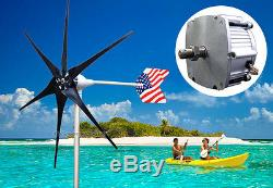 Patriot 1600 W Windzilla Pma 12 V Ac 6 Lame Éolienne Kit Générateur
