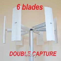 Petit Axe Vertical Éolienne Générateur D'énergie 500 750 1000 W Jardin Sur Le Toit 1kw