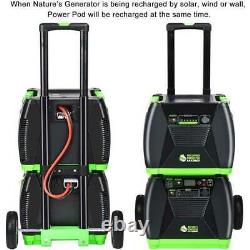 Power Pod Elite 1200 Watt Générateurs Avec 4 Pcs Panneau Solaire Et Éolienne
