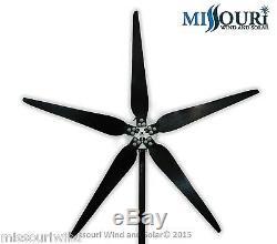 Raptor G5 24 Volt 5 Blade 1600 Watts Max Wind Turbine Générateur Avec 33 Lames