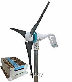 Réglez La Vitesse De L'air 500w 24v Éolienne + 650w 24v Contrôleur De Charge Hybride