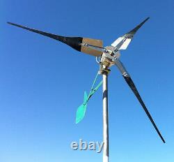 Turbine 3 Pales D'éoliennes Uk 600 Watts Facturera Grille De Batterie 12v 24v