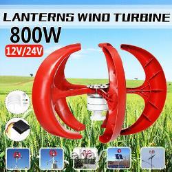 Turbine 800w Lanterne Éolienne Générateur Verticale 5 Lames Avec