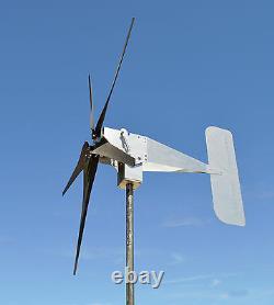 Typhoon Up Tilting Unibody Yaw Wind Turbine Generator 5kt Props 48 Volt Ac Power