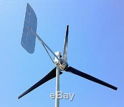 Ultra Low Éolienne Générateur 1685 Watts 3 Black Lame 48 CC À 2 Fils 6,3 Kwh