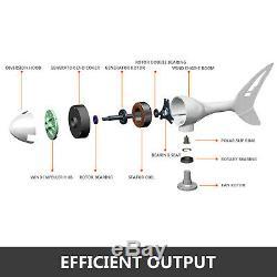 Vevor Max 400w Wind Turbine Générateur 12v 3 Lame Avec Moulin À Vent Contrôleur De Charge