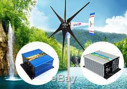 Windzilla Pma 24 V Ac 6 Lame 1.8k Éolienne Générateur + Contrôleur + Banc Dissipation